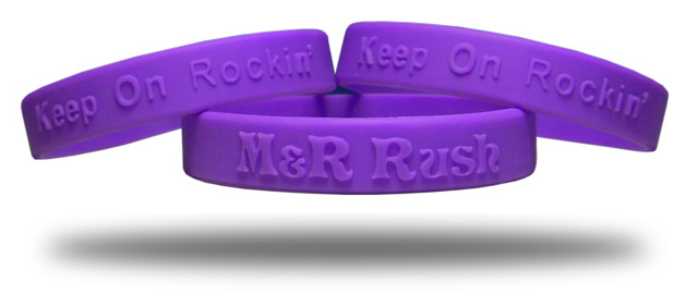 Silicone Embossed Wristbands